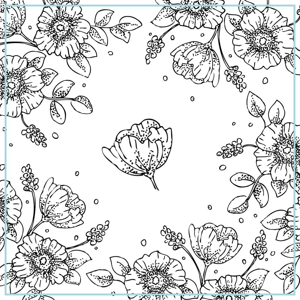 Free Printable Vintage Floral Coloring Pages To Print Also Grown Ups For Printable Flower Coloring Pages Coloring Pages To Print Vintage Printables