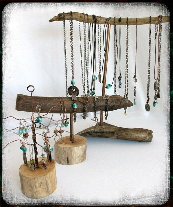 Salvaged driftwood jewelry displays do it yourself artsy salvaged driftwood jewelry displays do it yourself solutioingenieria Gallery