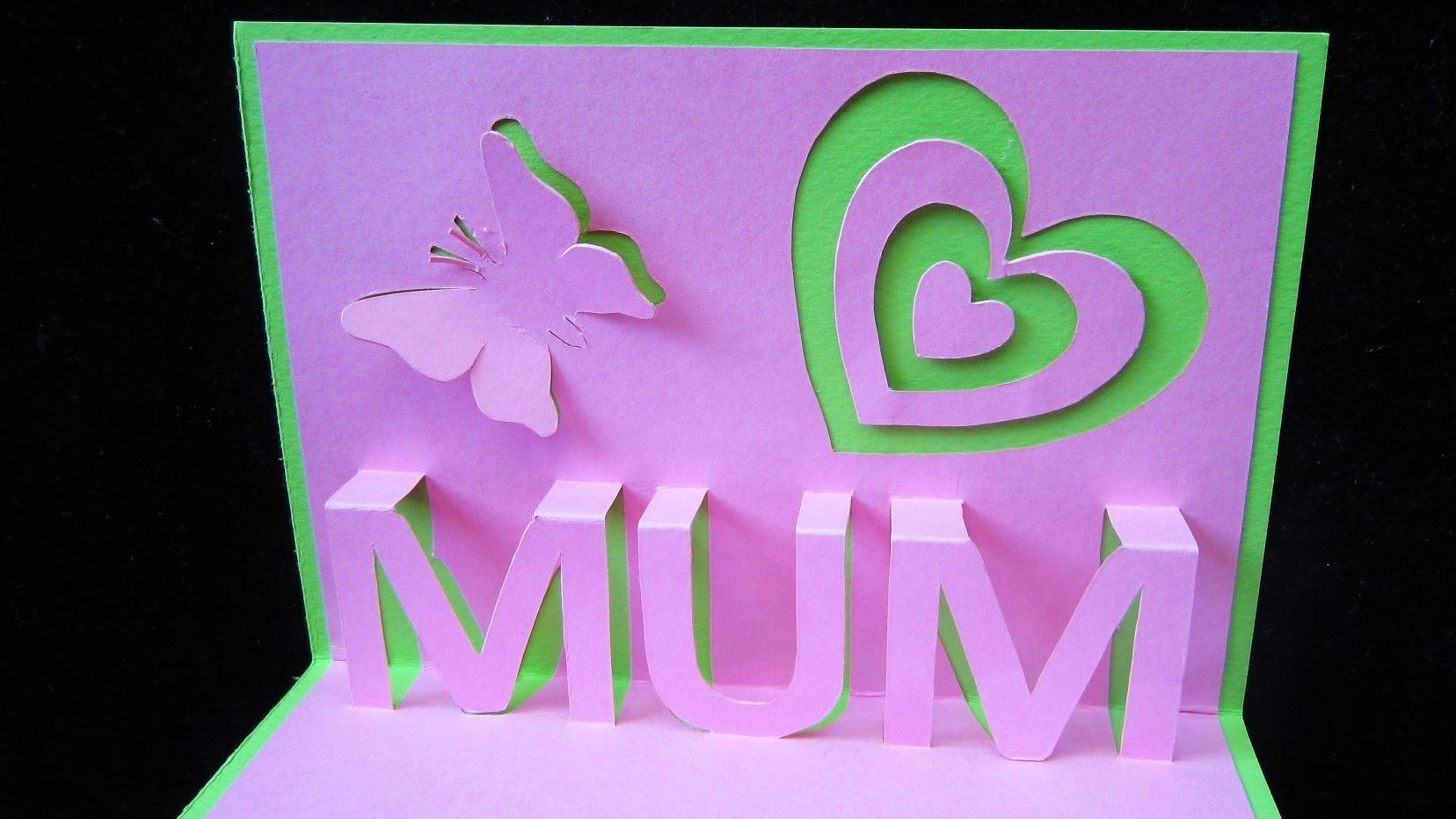 Birthday Cards Pop Up How To Make ~ Mothers day pop up card learn how to make a popup card as a gift