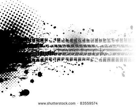 Black Tire Track Banner Tire Tracks Image Vector