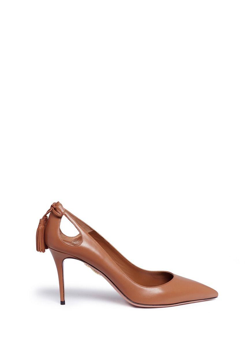 b36c0150632d AQUAZZURA  Forever Marilyn 85  Tassel Leather Pumps.  aquazzura  shoes   pumps