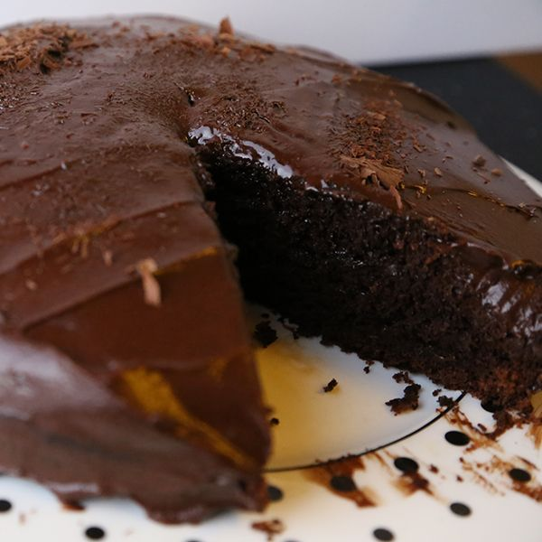 An Easy Recipe For A Deliciouoist Single Layer Chocolate Cake In 9 Inch