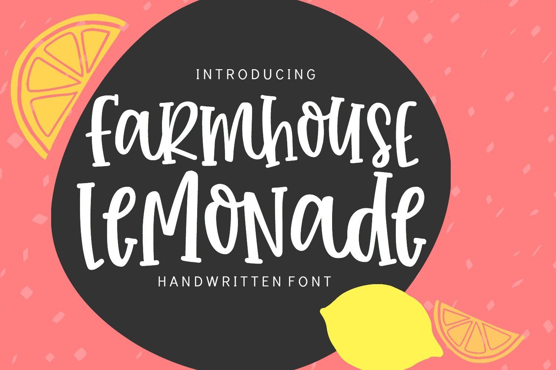 Farmhouse Lemonade Handwritten Font Handwritten fonts