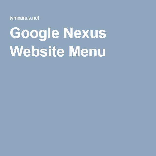 Google Nexus Website Menu HTML ^^ Pinterest Website menu - copy exchange blueprint application