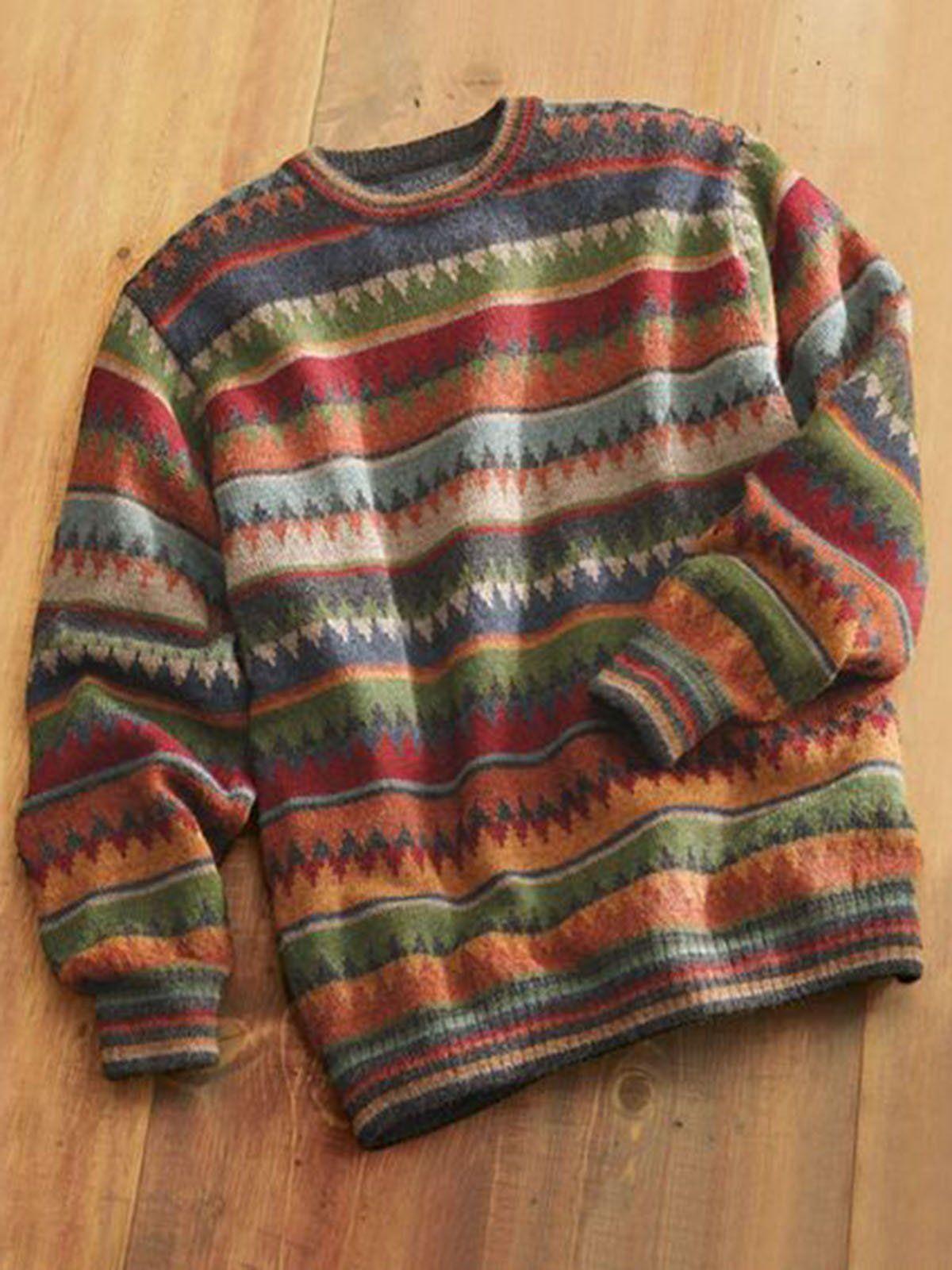 Women Color Round Neck Vintage Shirts & Tops