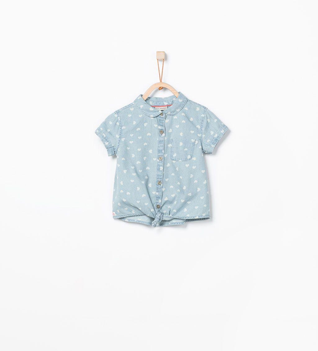 Zara rebajas camisa denim corazones ropa para ni os Zara bebe nina rebajas