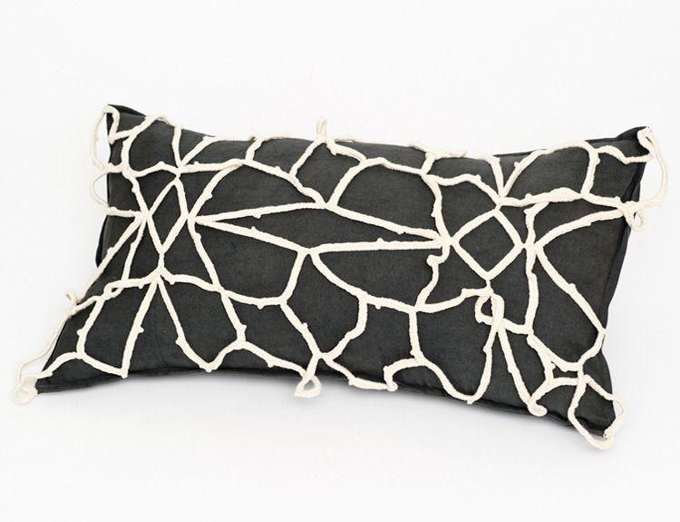 Image of Fleur a Joure Grey Crochet Pillow