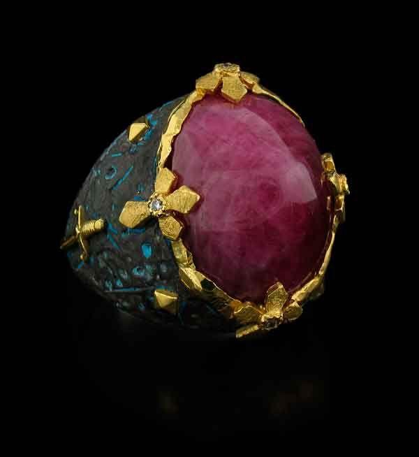 Victor Velyan Burmese Ruby RingCayen Collection