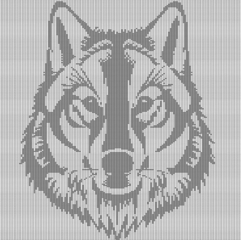 GREY+WOLF+HEAD+CROCHET+AFGHAN+PATTERN+GRAPH | Tapestry | Pinterest ...