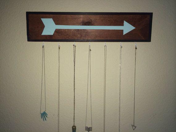 Brandy Melville Inspired Arrow Wooden Sign Necklace Hanger Holder