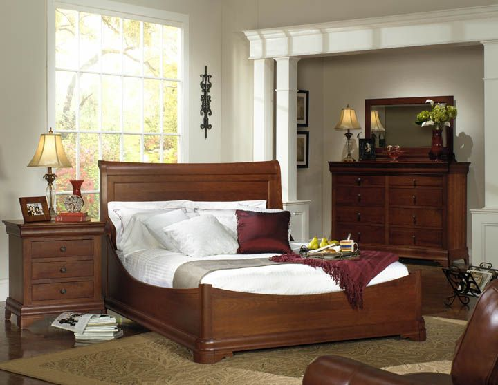 Available At Amish Oak Cherry Located Inside Hickory Furniture Mart Www Hi Solid Wood Bedroom Furniture Wood Bedroom Furniture Bedroom Sets Furniture King