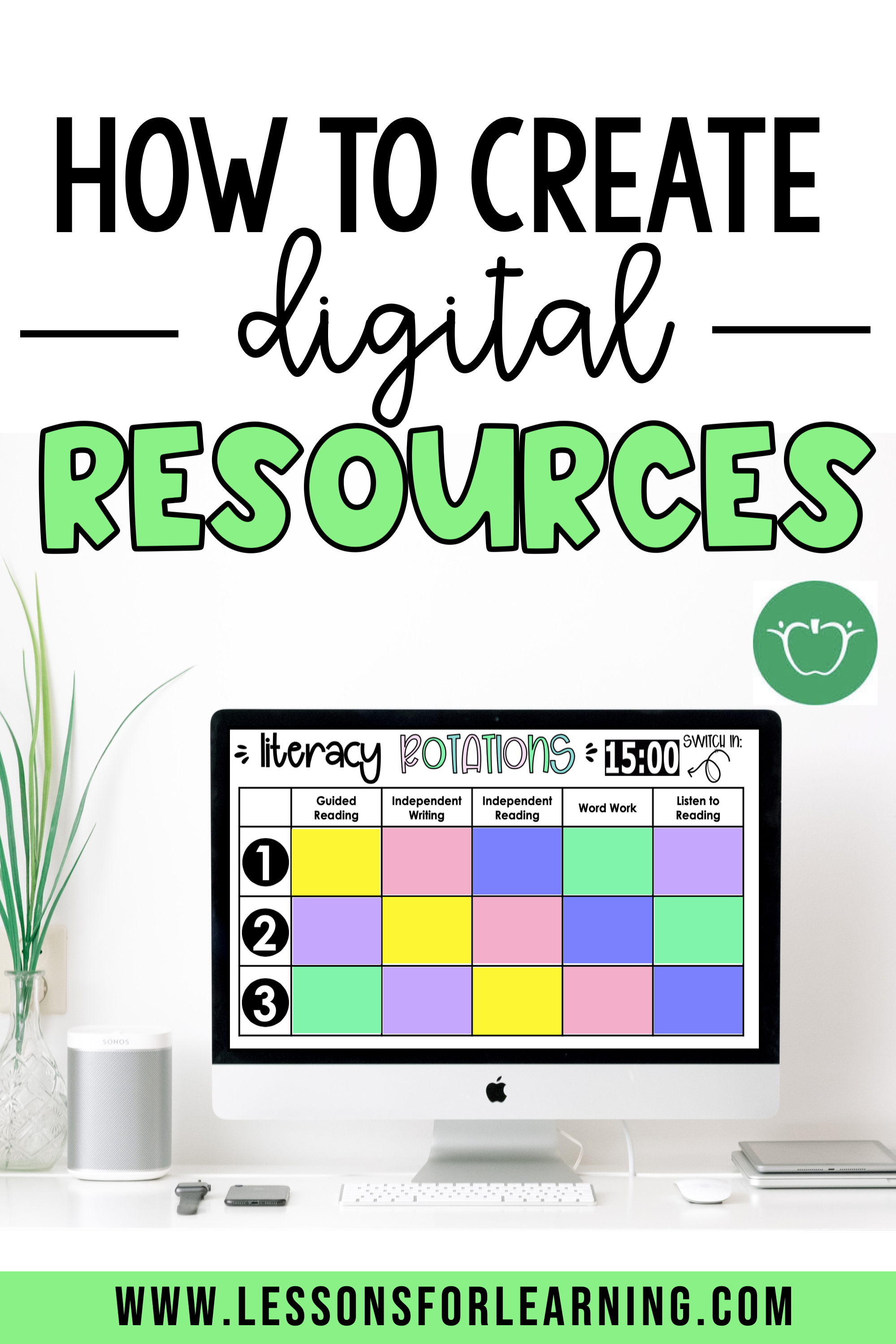 How to Create Digital Resources - Lessons for Learning