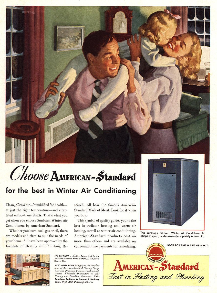 Pin By J E Hart On Vintage Ads Heating And Cooling Air