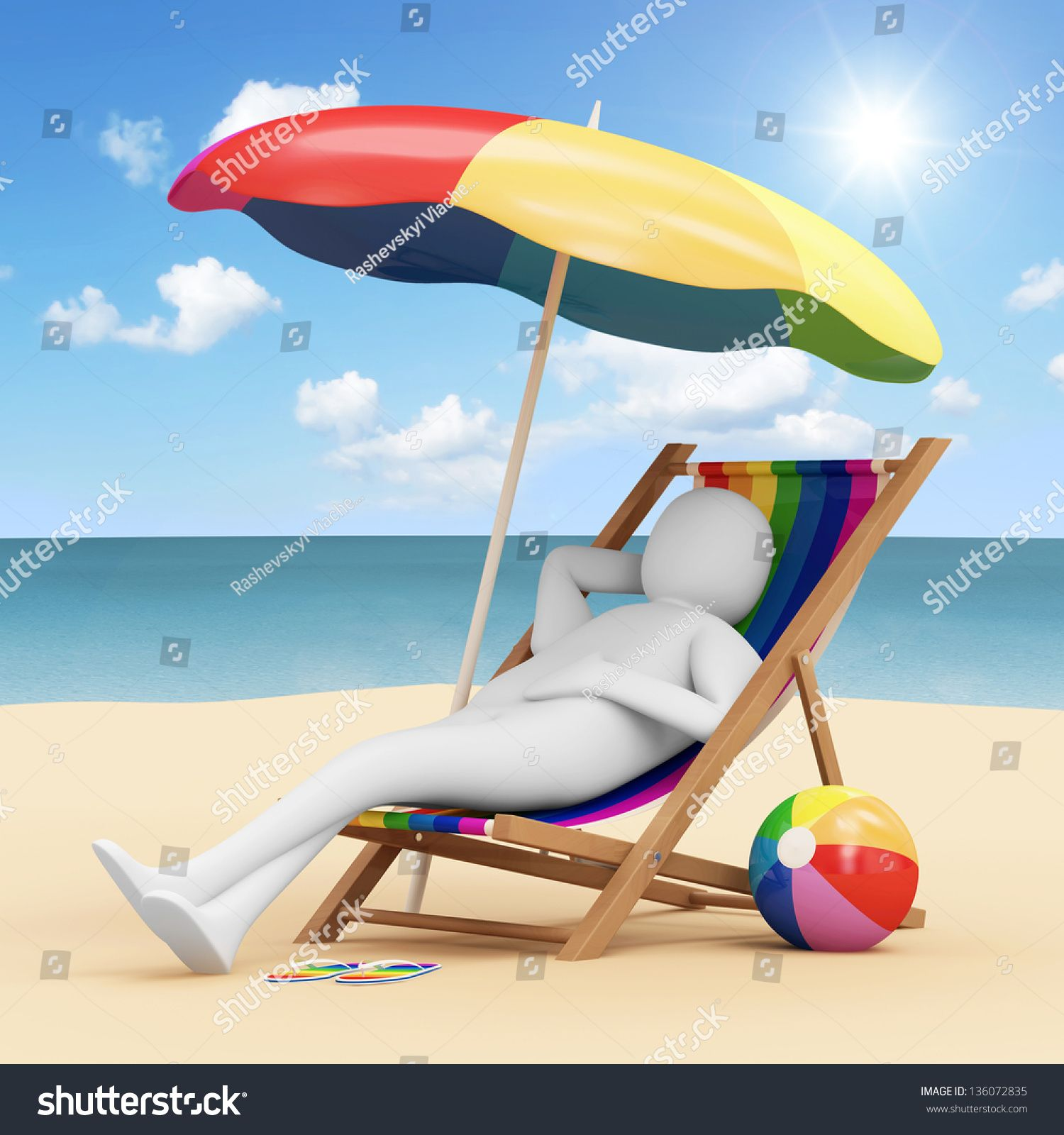 Man In Beach Chair 3d Man Lying On Beach Chair Stock Illustration 136072835 Shutterstock Lying On Beach Beach Chairs 3d Man
