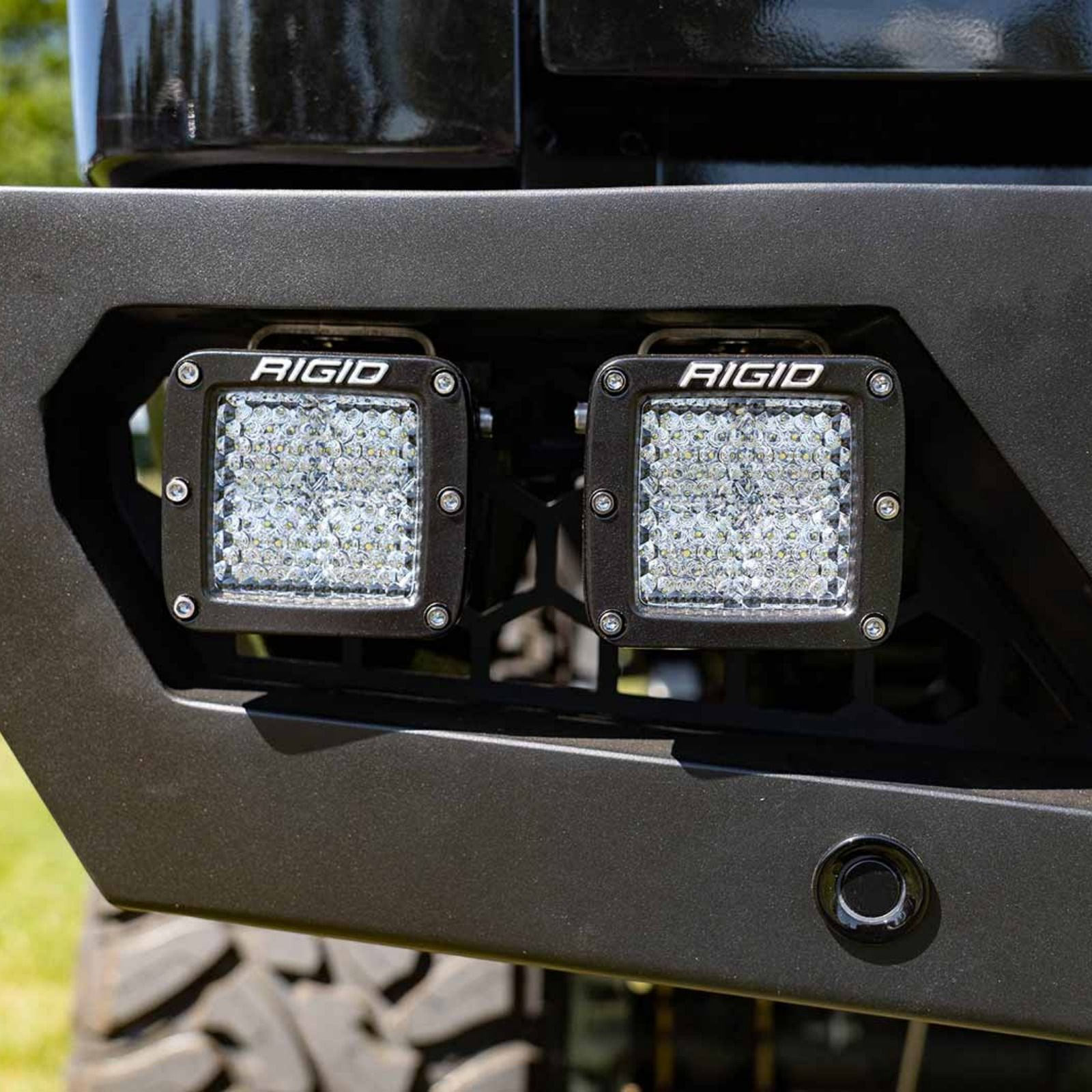 Rigid Industries D-Series Pro Spot Diffused Midnight Surface Mount Pair #ledtechnology