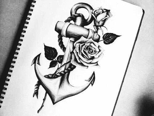 bildergebnis f r anker mit rose tattoo tattoos tattoo. Black Bedroom Furniture Sets. Home Design Ideas