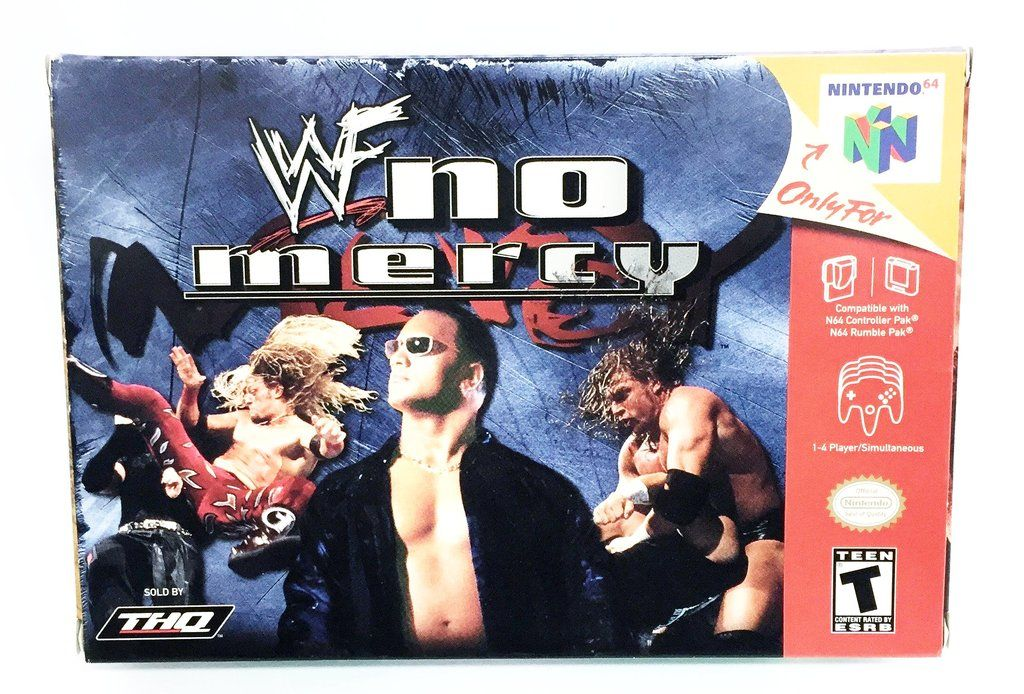 Nintendo 64 WWE WWF No Mercy Wrestling Game By THQ
