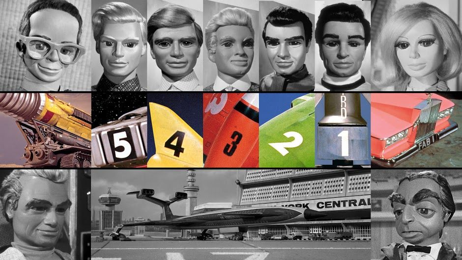 Some iconic characters and vehicles from Gerry Anderson's