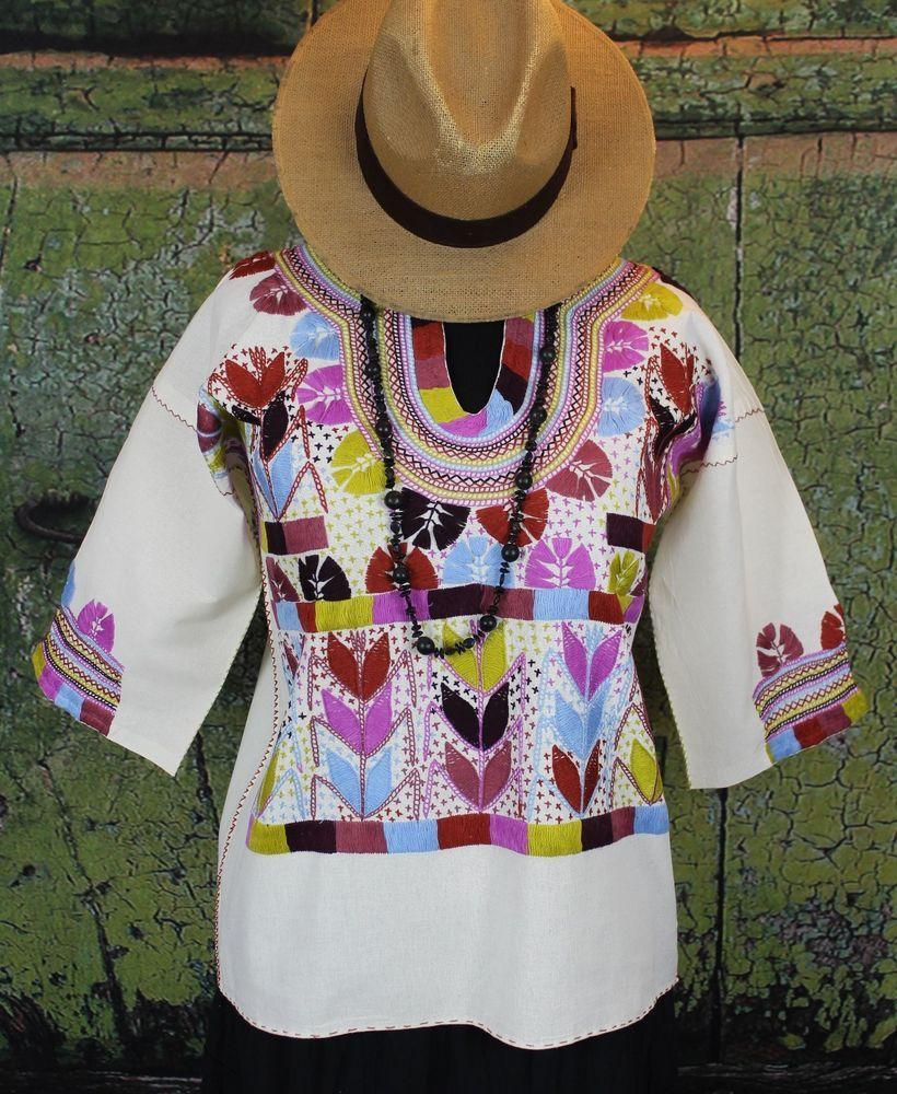 100% Cotton Multi-Color Corn Motif Hand Embroidery Blouse