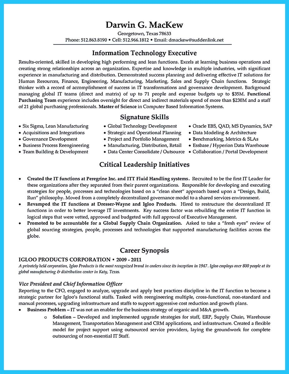Cool Outstanding Cto Resume For Professionals Check More