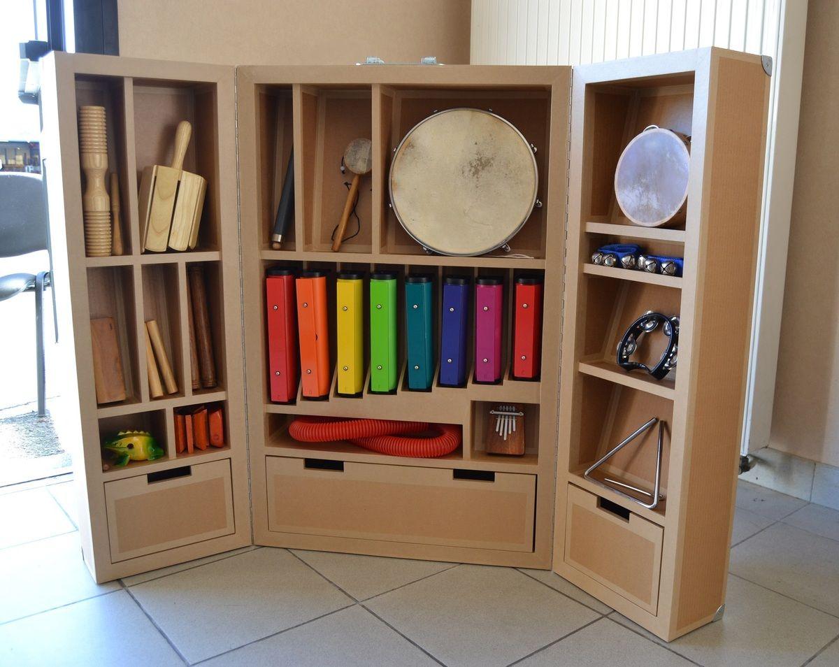 Pour Le Bibliop Le Du Maine Et Loire Un Meuble En Carton Recycl  # Meuble Avec Vw