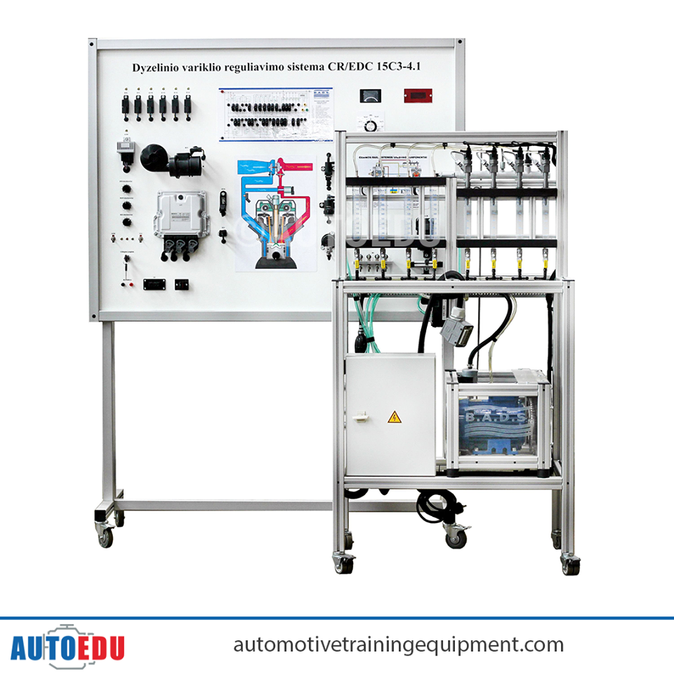 hight resolution of common rail training board simulator with engine control system bosch edc 15c3 4 1 is installed in a mobile aluminum frame this training board simulator