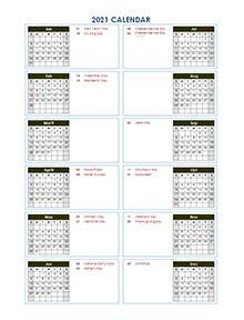 2021 Calendar Template Calendarlabs Background