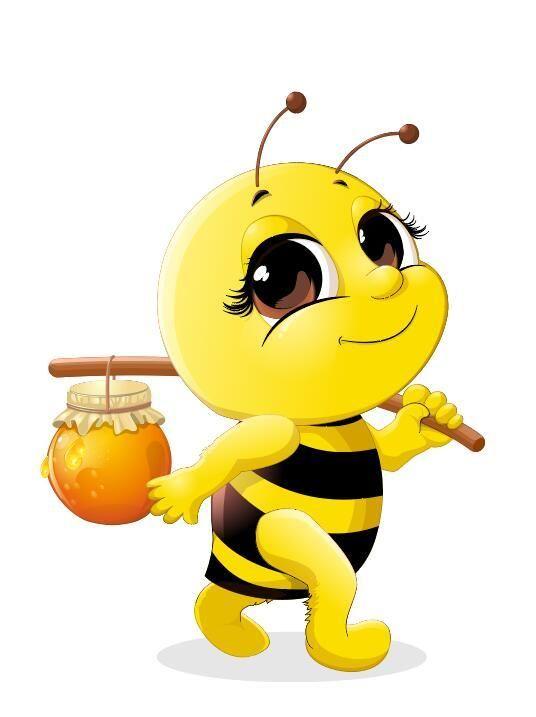 Free EPS file Cute cartoon bee baby vector 02 download ...