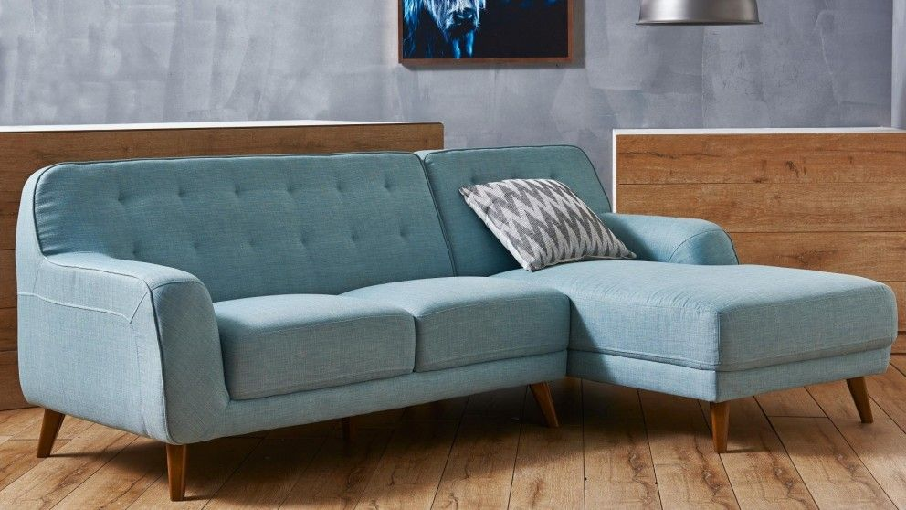Brosnan Fabric Sofa With Chaise Living Room Furniture Outdoor Bbqs Harvey Norman Australia Sofa Fabric Sofa Furniture