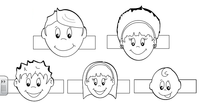 Free Coloring Pages Of Family Finger Puppets Sketch