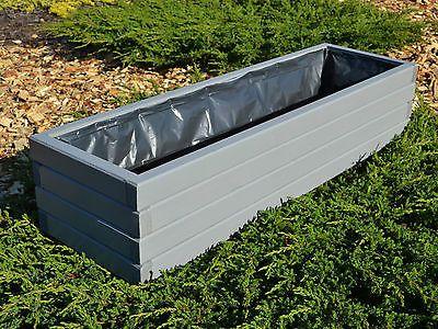 Pflanzkasten Aus Holz Pflanzka Bel Garten Terrasse 60 80 100cm Folie D2 Weiaÿ Grau Pflanzkasten Pflanzkasten Holz Pflanzkubel