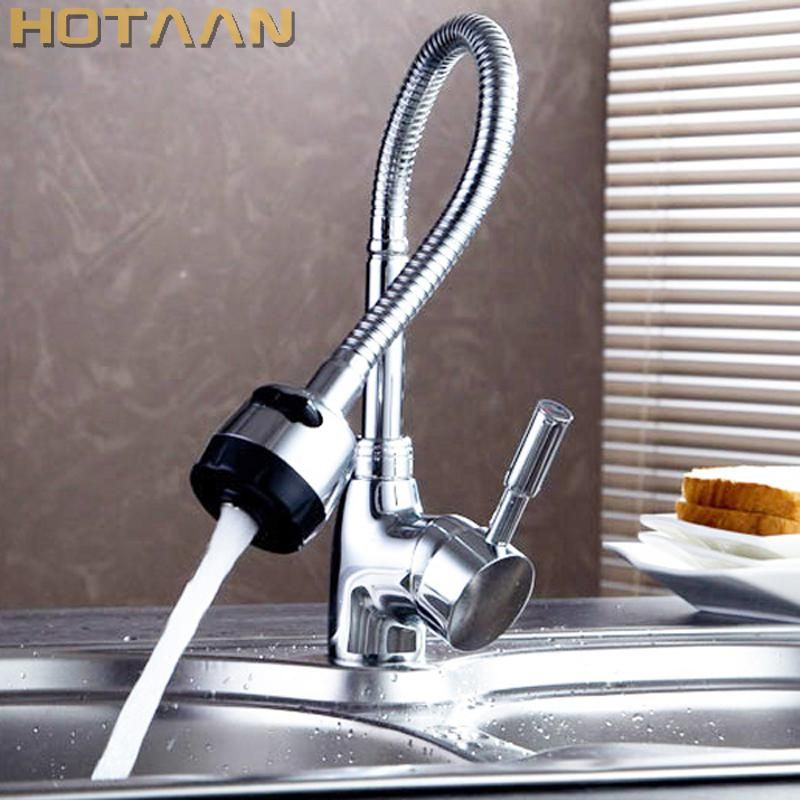 Solid Brass Kitchen Mixer Cold And Hot Kitchen Tap Single Hole