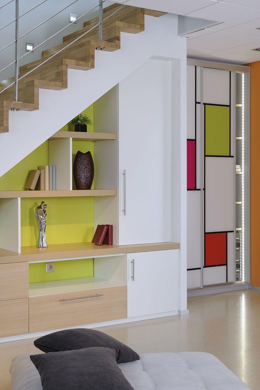 Placards Et Rangements Sur Mesure Coulissants Dressing Rangement Sous Escalier Meuble Sous Escalier Amenagement Sous Escalier