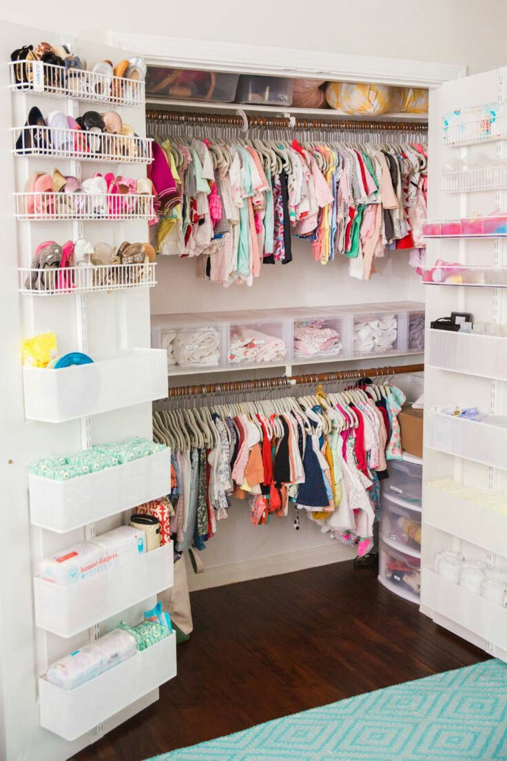 Baby Argues About Trying On Bedroom Shoes: Inspiration To Organize A Nursery Closet