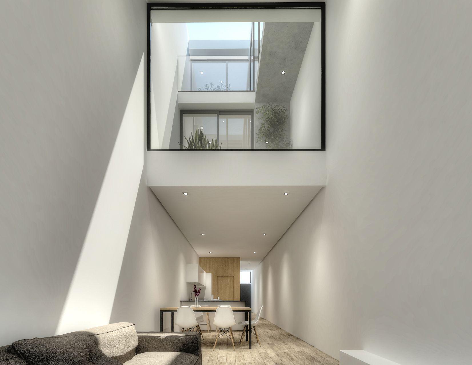 La casa estrecha vivienda unifamiliar entre medianeras - Vivienda unifamiliar entre medianeras ...