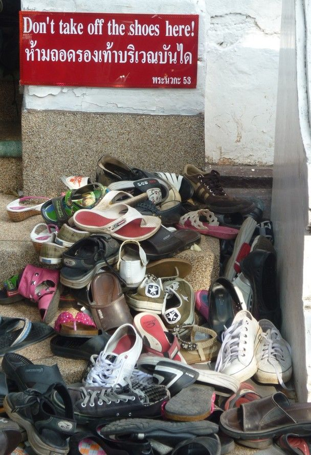 Wat Phrathat Doi Suthep, Thailand - Don't Take Off The Shoes!