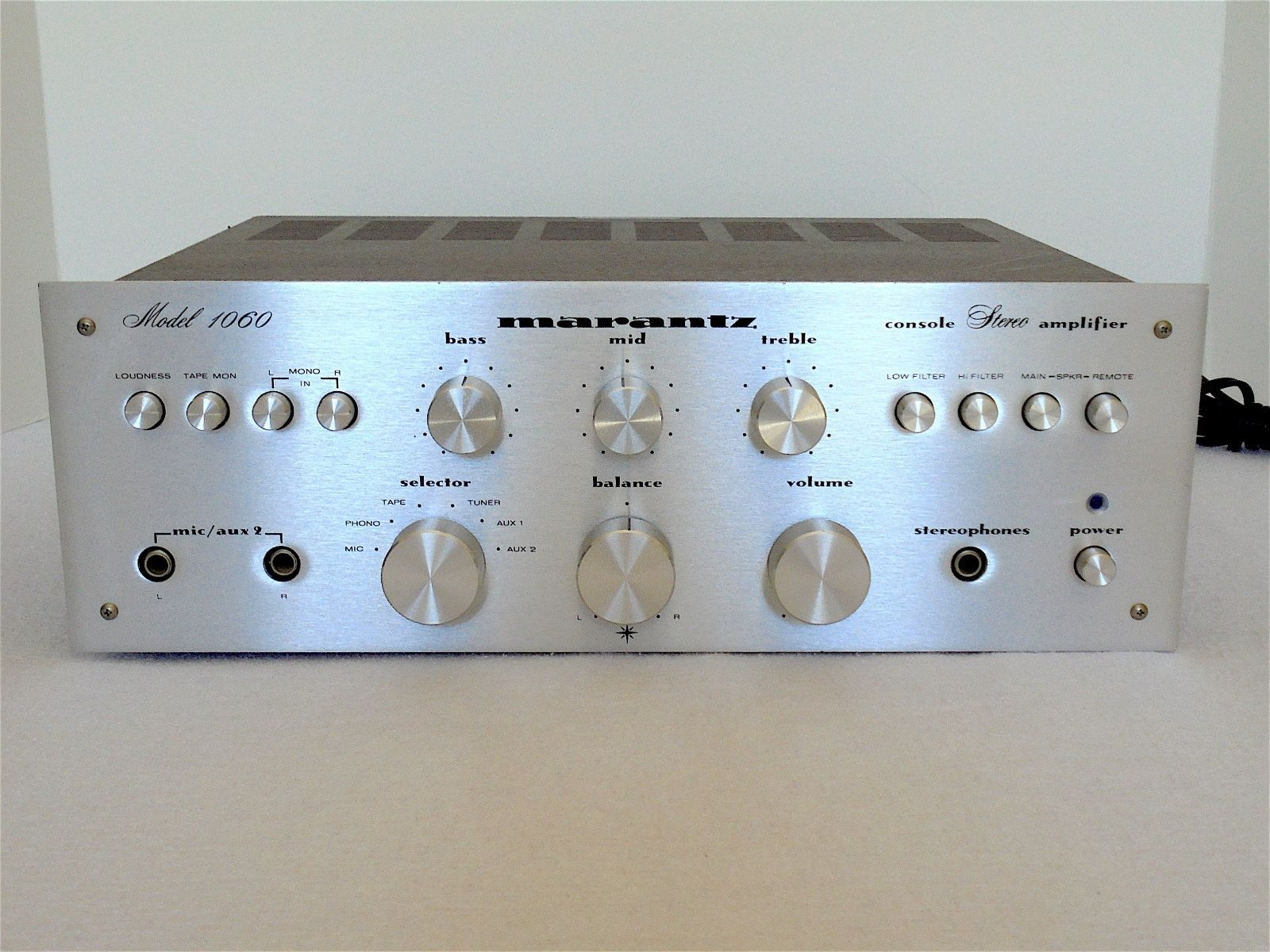 Vintage Marantz 1060 Stereo Amplifier Serviced Super Clean Ebay