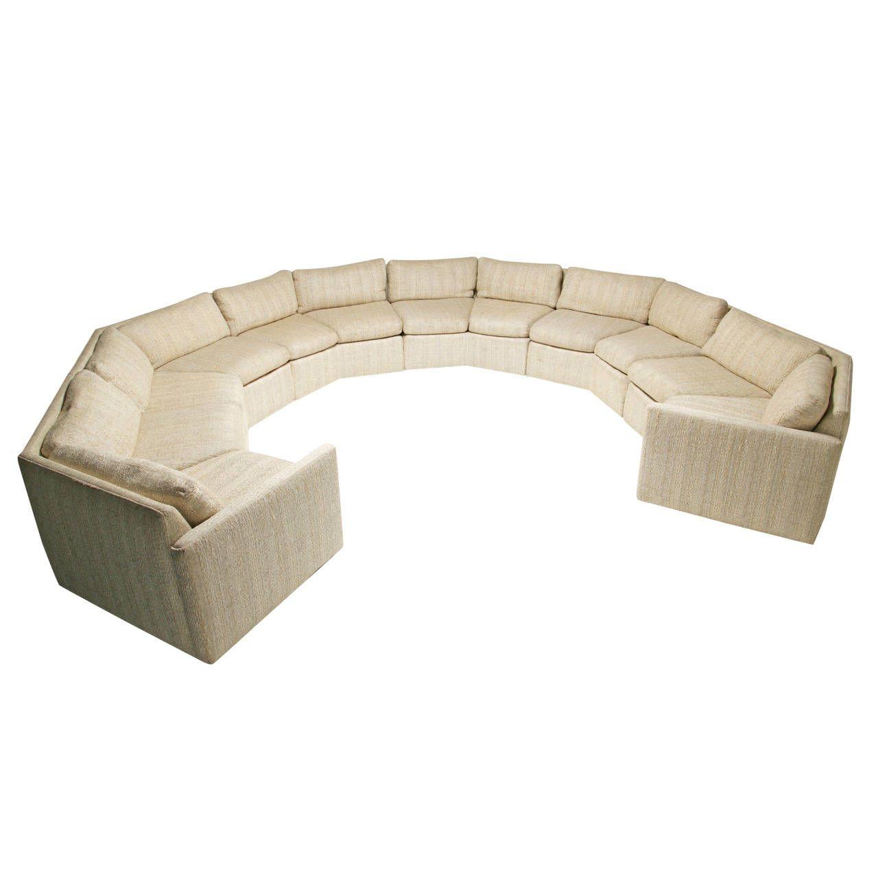 Phenomenal Mid Century Hexagonal Sectional Sofa In The Style Of Milo Inzonedesignstudio Interior Chair Design Inzonedesignstudiocom