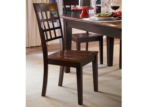 Grid Back Chair - Oak/Espresso | Bristol Point Collection