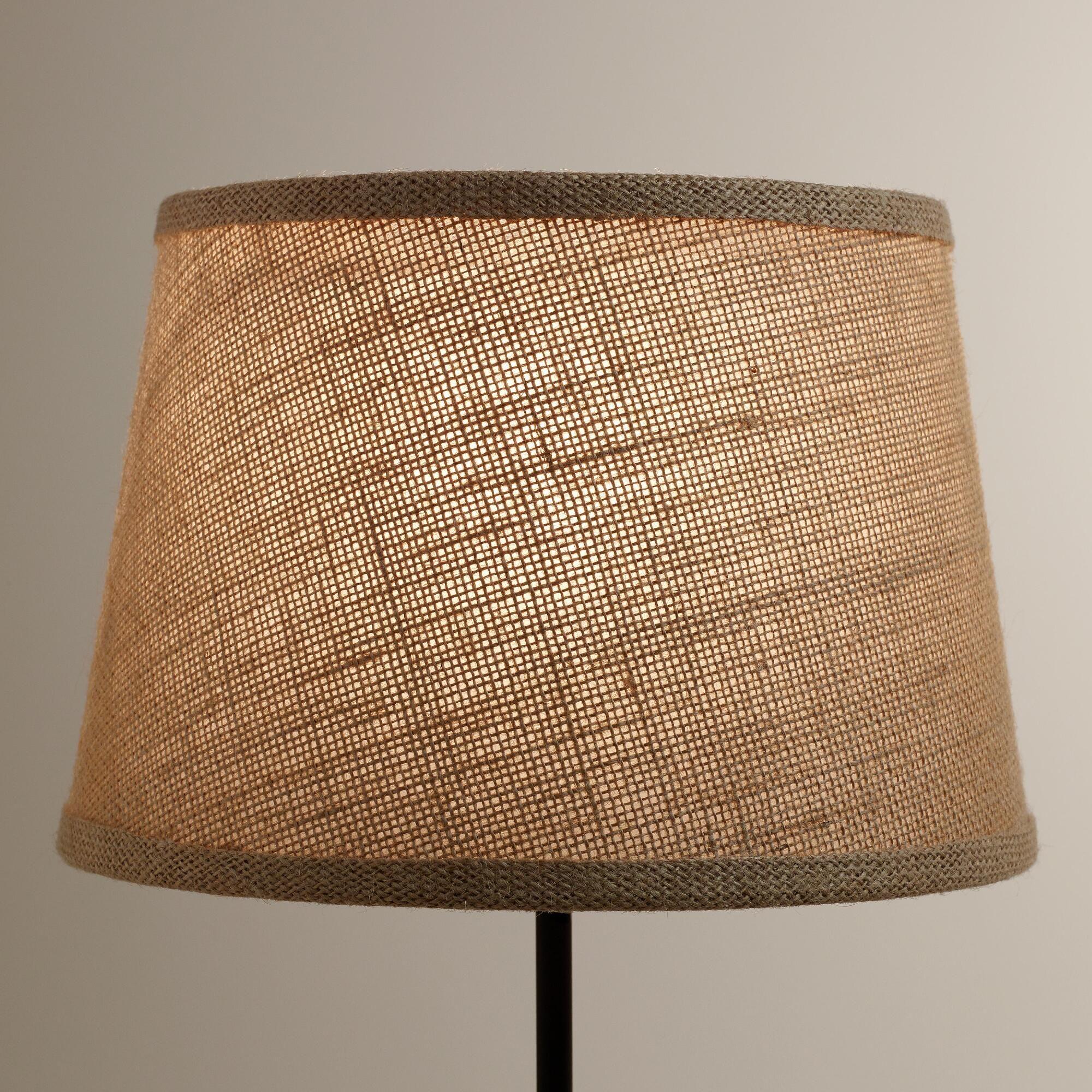 World Market Lamp Shades Natural Burlap Accent Lamp Shade