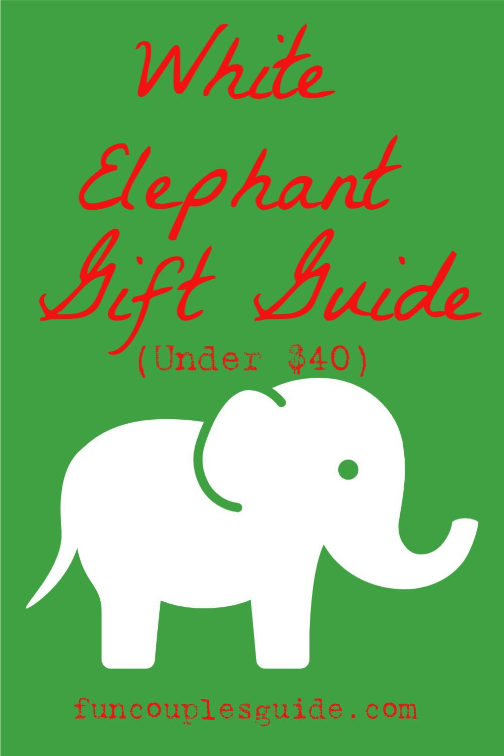 Home fun couples guide white elephant gifts elephant