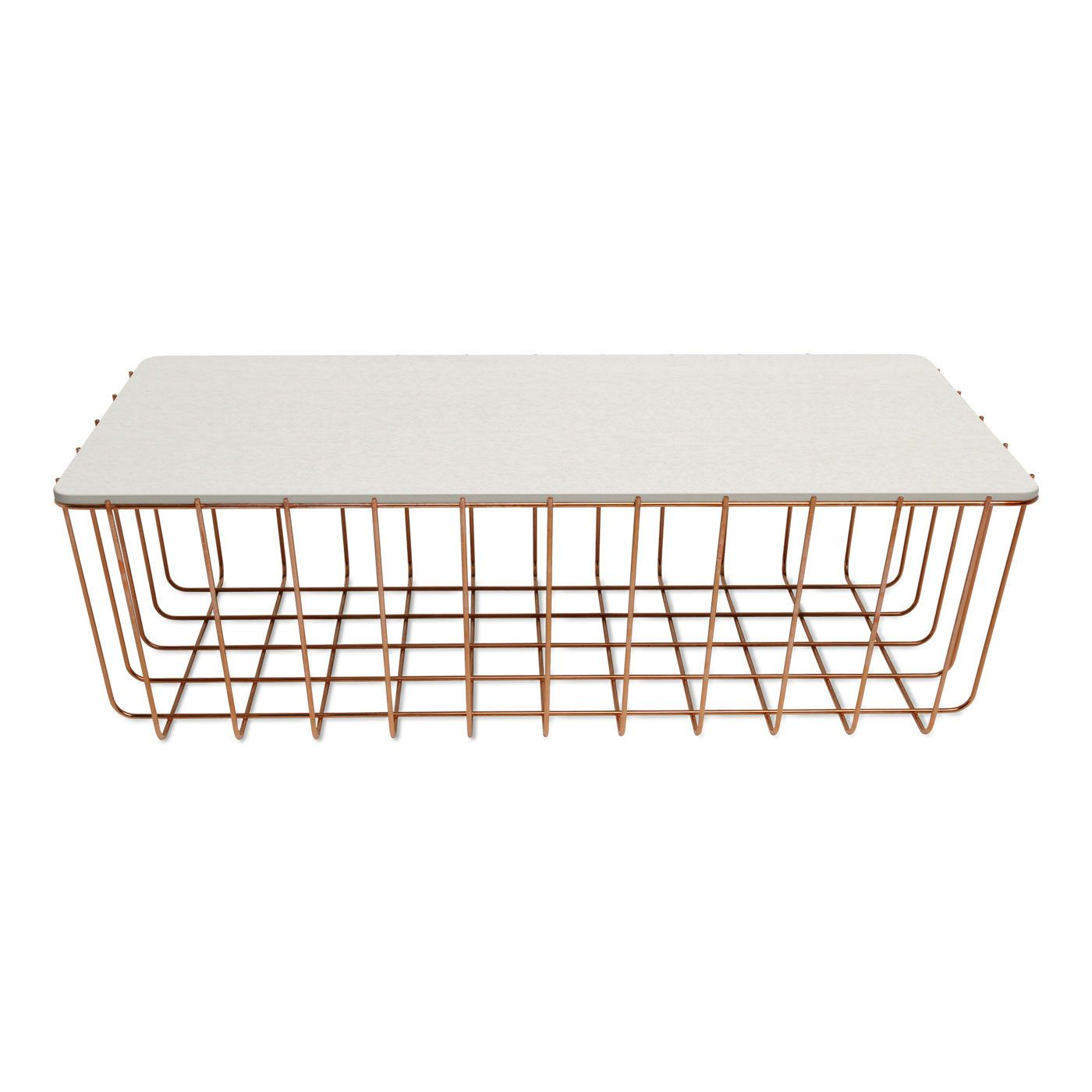 Scamp Large Table Copper Base White On Oak Top Coffee Table Modular Coffee Table Coffee Table White [ 1400 x 1400 Pixel ]