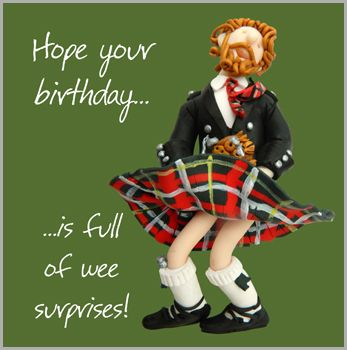 Holy Mackerel Are Off To Scotland For This Birthday Card From