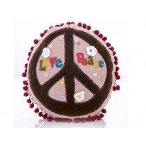 Almofada de Linho e Feltro - Love and Peace