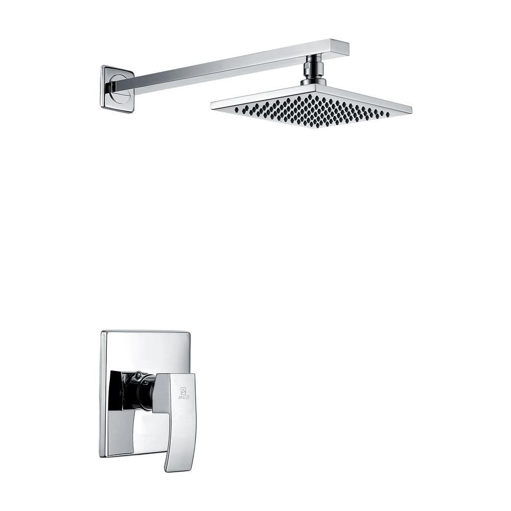 Anzzi viace single handle spray shower faucet in polished chrome