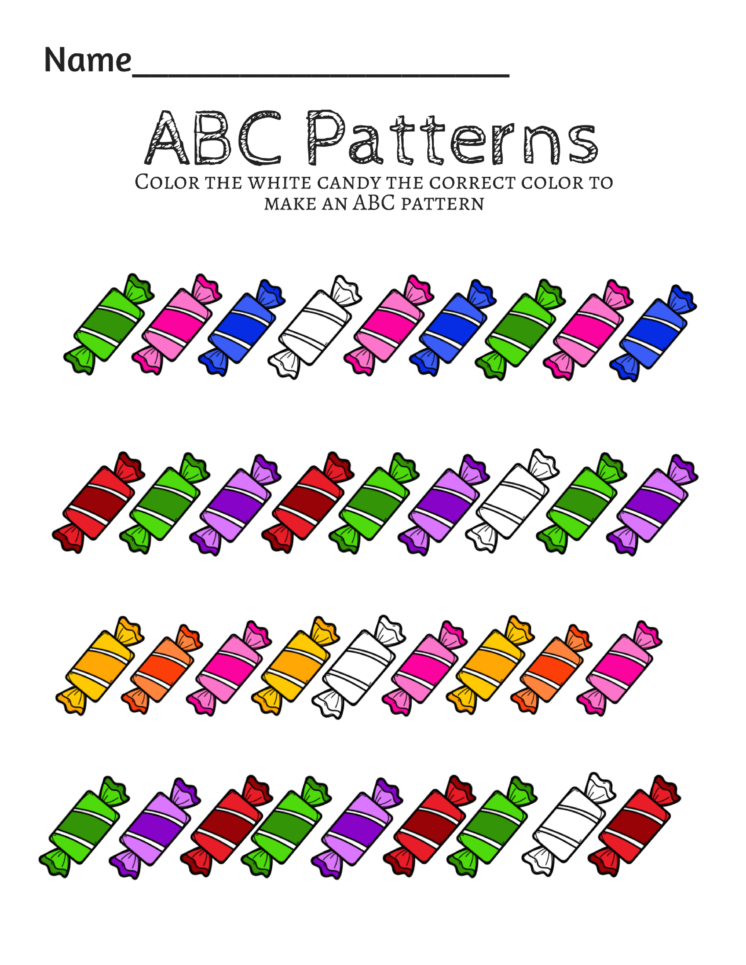 preschool prek math patterns printables math patterns pattern preschool. Black Bedroom Furniture Sets. Home Design Ideas