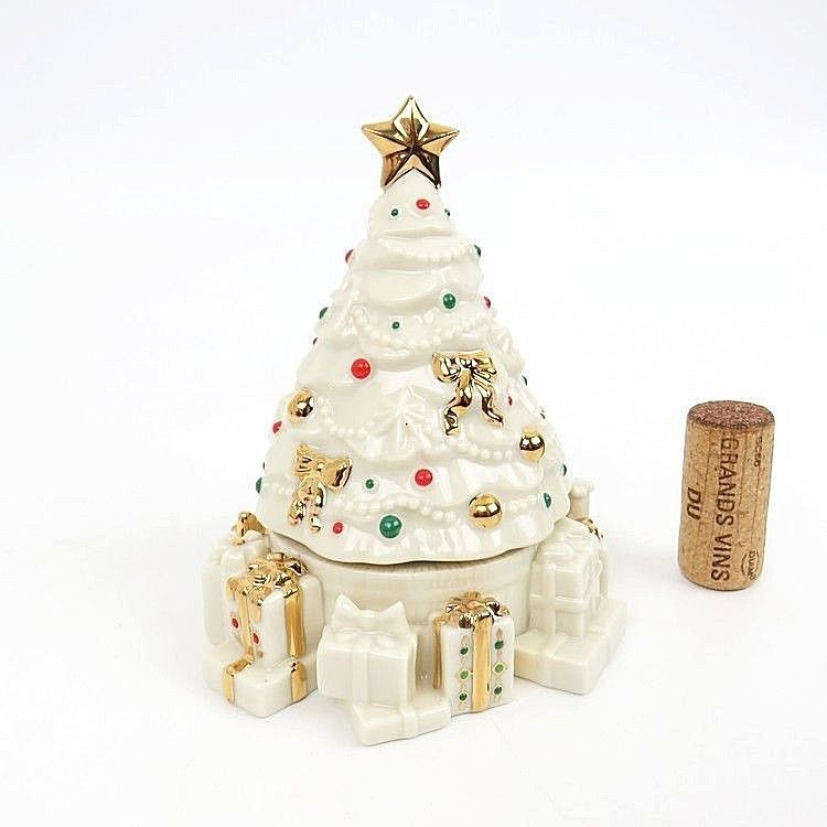 Lenox China Jewels Collection Musical Figurines O Christmas Tree Music Box Gold Lenox Christmas Tree Music Box Christmas Ornaments Holiday Decor