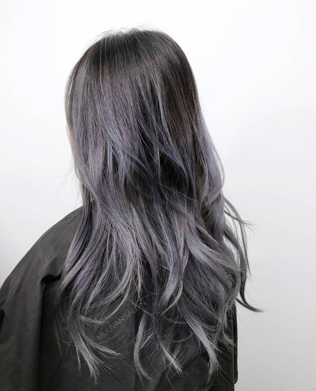 Ash Violet Ombre Miju Van Salon La Hair Violet Ombre Hair Styles