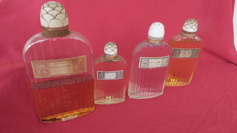 De 4 Série parfumerie Grenoville Anciens Flacons À Parfum Belle pzMVSU