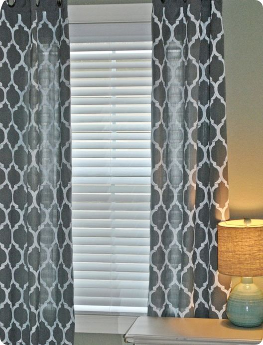 tutorial for stenciled curtains